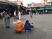 Plaza de la Jamaa el - Fna, Marrakech, Marruecos