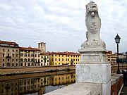 Ponte di Mezzo, Pisa, Italia