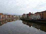 Ponte Solferino, Pisa, Italia