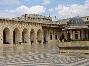 Patio de la Mezquita de los Omeyas, Alepo, Siria