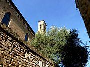 Piazza San Agostino, San Gimignano, Italia