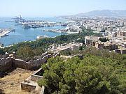 Foto de Malaga, Castillo de Gibralfaro, España - Monte y mar