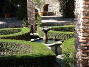 Foto de Malaga, Alcazaba, España  - Jardines del Patio de Armas