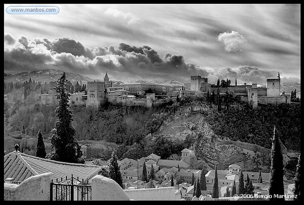 Foto de Granada, Alhambra, España - Alhambra nevada